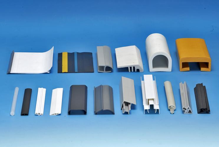 塑膠異型押出,塑膠軟硬共押雙色異型押出,材質:PVC,PE,PP,ABS,HIPS,PC,壓克力