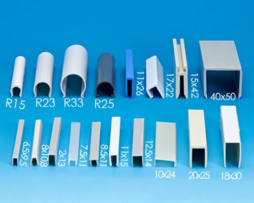 塑膠ㄇ型押條,材質:PVC,PE,PP,ABS,HIPS,PC,壓克力